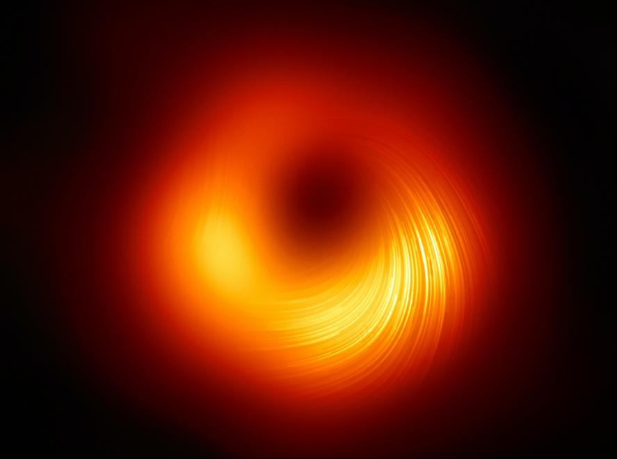 El Telescopio del Horizonte de Sucesos permite observar el agujero negro de la galaxia M87 en luz polarizada