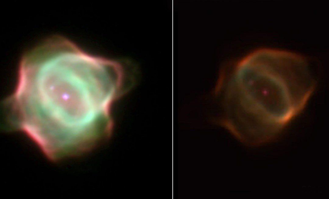 Un estudio en el que ha participado el CSIC demuestra que la nebulosa Mantarraya ha cambiado de forma y perdido brillo
